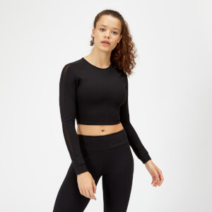 Power Netz Crop Top