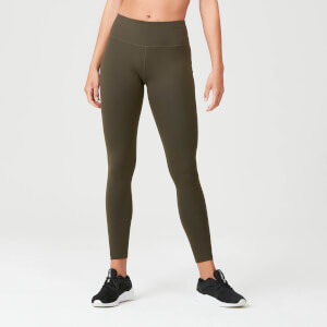 Power Mesh Leggings - Dark Khaki