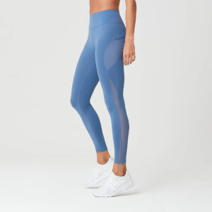 Power Mesh Leggings - Thunder Blå