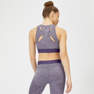 MP Women's Inspire Seamless Sports Bra - Purple