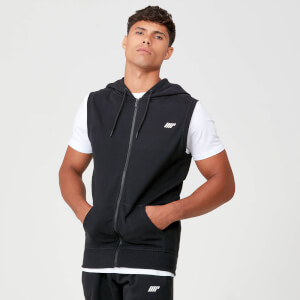 Tru-Fit Sleeveless Hoodie - Black