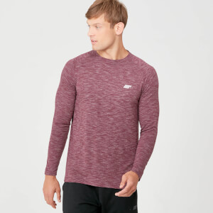 Performance Long Sleeve T-Shirt - Burgundy Marl