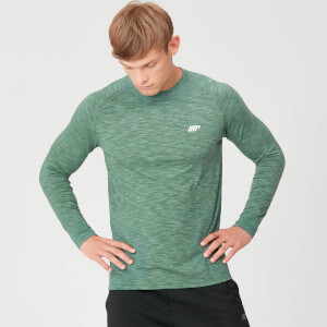 Performance Long Sleeve T-Shirt - Dark Green Marl