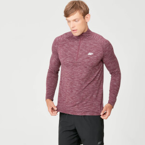 Myprotein Performance 1/4 Zip Top - Burgundy Marl