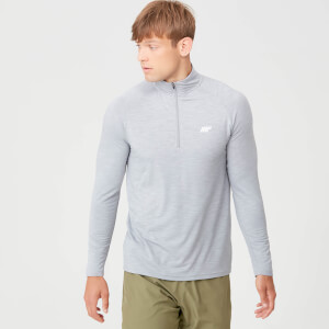 Performance ¼ Zip T-shirt - Grey Marl
