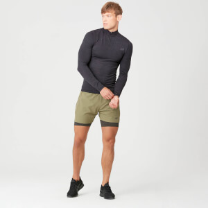 Sculpt Seamless 1/4 Zip Top - Slate