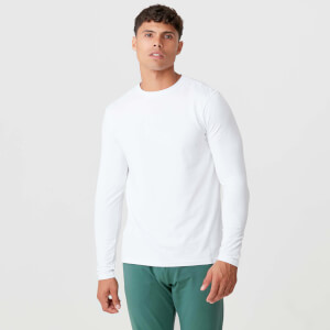 MP Luxe Classic Long Sleeve Crew - White