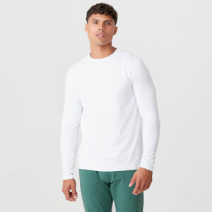 Luxe Classic Long Sleeve Crew - White