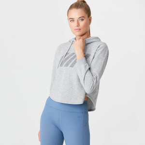 The Original Cropped Hoodie - Grey Marl