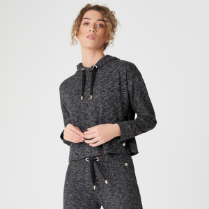 Luxe Lounge mikina - Black Heather