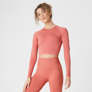 Shape Seamless Crop Top - Copper Rose