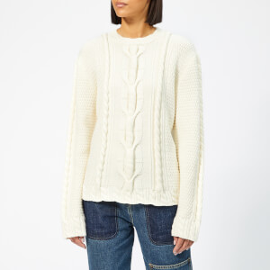 JW Anderson Women's Cable Crew Neck Jumper - Parchment