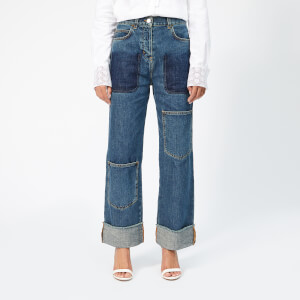 JW Anderson Women's Shaded Pocket Detail Denim Trousers - Mid Blue