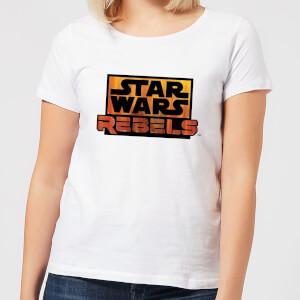 T-Shirt Star Wars Rebels Logo - Bianco - Donna