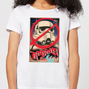 Star Wars Rebels Poster Damen T-Shirt - Weiß