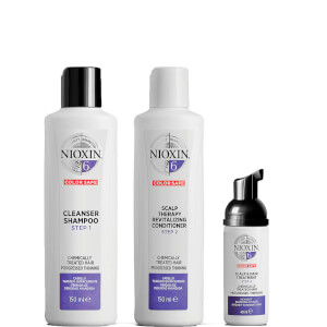 Kit de prueba del sistema 6 de NIOXIN para cabellos tratados químicamente con adelgazamiento progresivo