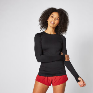 Shape Seamless Long-Sleeve Top – Schwarz