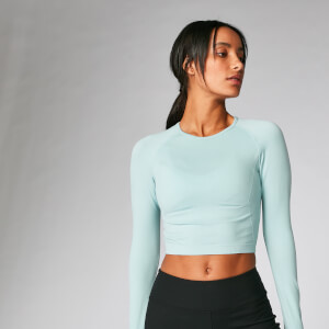 Shape Seamless Crop Top - Seafoam