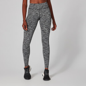 Power Leggings - Black Space Dye