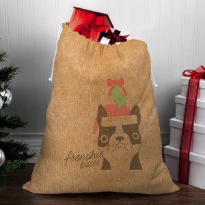Frenchie Kisses Christmas Sack