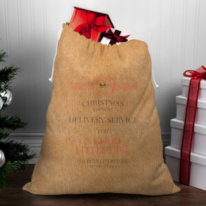Christmas Delivery Service for A Good Little Girl Christmas Sack