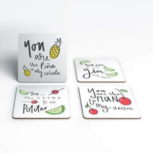 You Are The Gin To My Tonic Coasters (Pack of 4)
