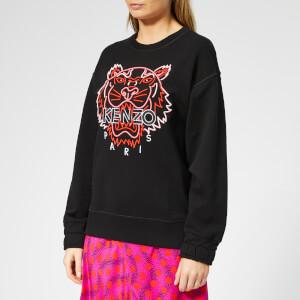 KENZO Women's Neon Tiger Comfort Sweatshirt - Black
