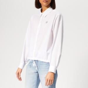 KENZO Women's Boxy Drawstring Shirt - White