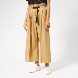 KENZO Women's Cropped Large Belted Pants - Dark Beige