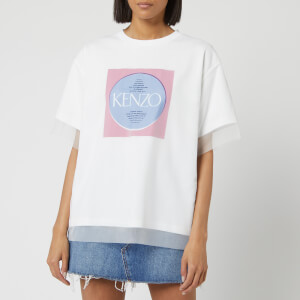 KENZO Women's Comfort T-Shirt Double Layer - White