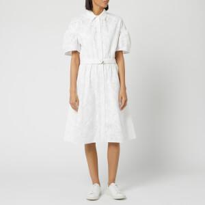KENZO Women's Shirting Belted Dress - White