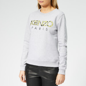 KENZO Women's Fitted Sweatshirt - Pale Grey