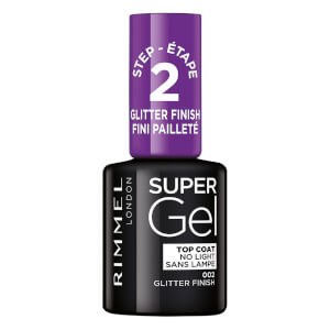 Rimmel Super Gel top coat - Glitter Finish