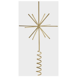 Ferm Living Brass Christmas Tree Top Star