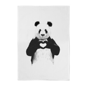 Balazs Solti Panda Love Cotton Tea Towel