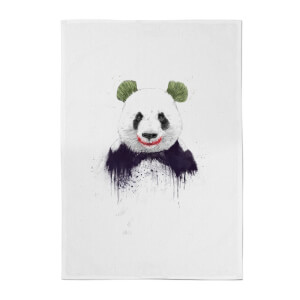 Balazs Solti Joker Panda Cotton Tea Towel