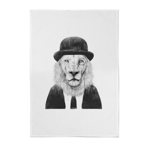 Balazs Solti Monocle Lion Cotton Tea Towel