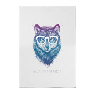 Balazs Solti Who's Your Granny? Cotton Tea Towel