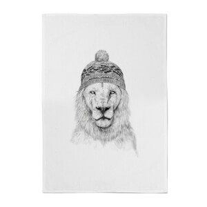 Balazs Solti Lion with Hat Cotton Tea Towel