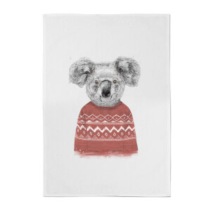 Koala And Jumper Cotton Tea Towel