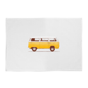 Florent Bodart Yellow Van Cotton Tea Towel