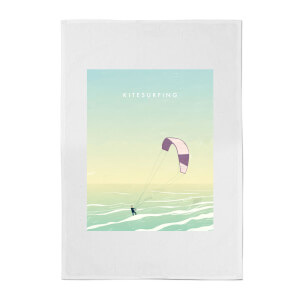 Kitesurfing Cotton Tea Towel