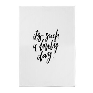 PlanetA444 It's Such A Lovely Day Cotton Tea Towel