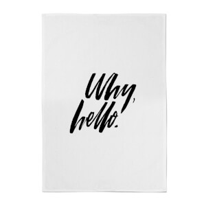 PlanetA444 Why, Hello. Cotton Tea Towel