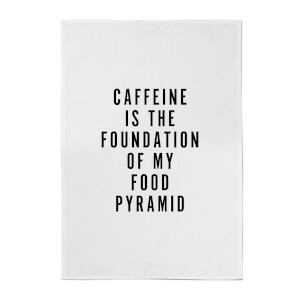 PlanetA444 Caffeine Is The Foundation Of My Food Pyramid Cotton Tea Towel