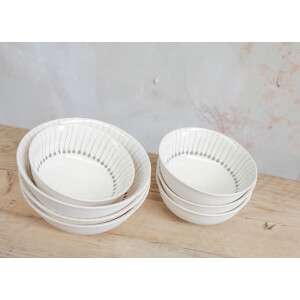 Nkuku Iba Ceramic Bowl - Grey