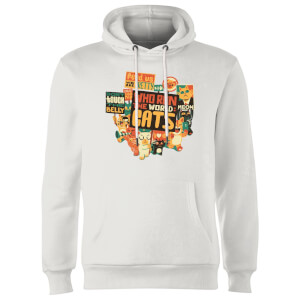 Tobias Fonseca Who Run The World? Cats. Hoodie - White