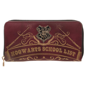 Harry Potter Hogwarts Zip Around Wallet - Burgundy