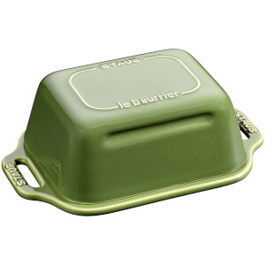 Staub Ceramic Rectangular Butter Dish - Basil