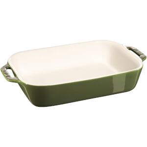 Staub Ceramic Rectangular Gratin Dish - 27cm x 20cm Basil